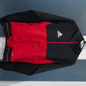 Black and red adidas zipper hoodie